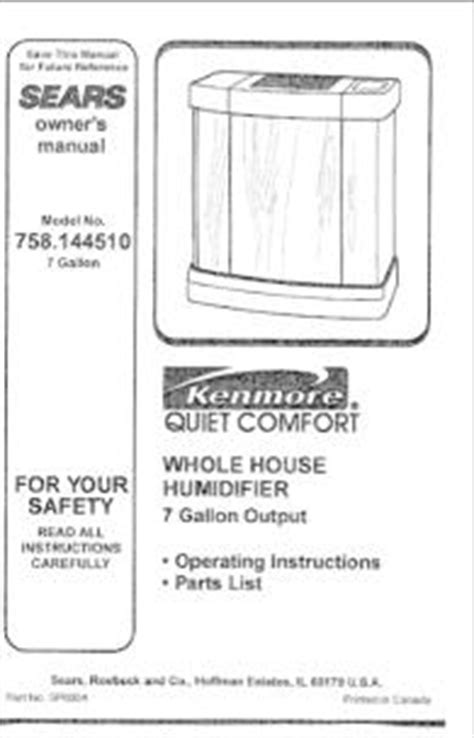 Kenmore Comfort 12 Humidifier by 758 144510 Kenmore Comfort Whole House Humidifier 7