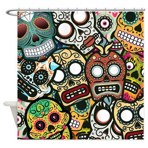 day of the dead shower curtain day of the dead shower curtain by bestshowercurtains