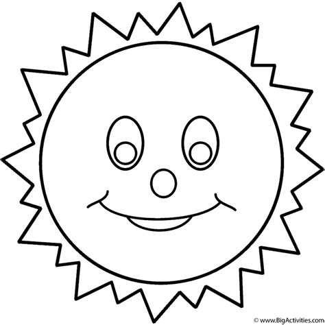 smiling sun coloring page smiling sun coloring page space