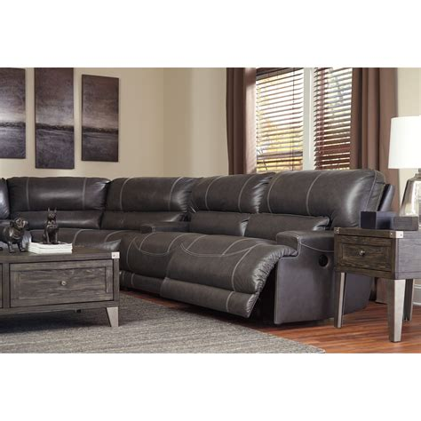3 piece reclining sectional sofa ashley signature design mccaskill contemporary 3 piece