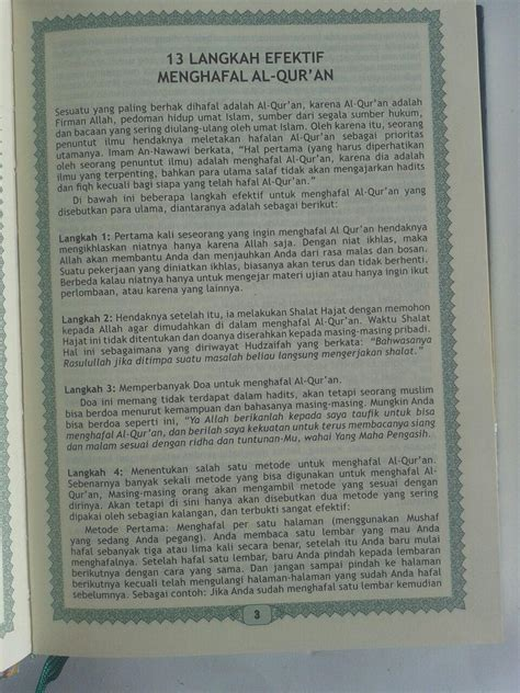 Al Quran Al Wafa Halim qur an hafalan tanpa terjemah halim ukuran a6