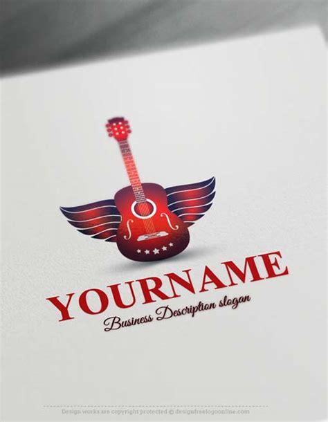 logo maker guitar logo design