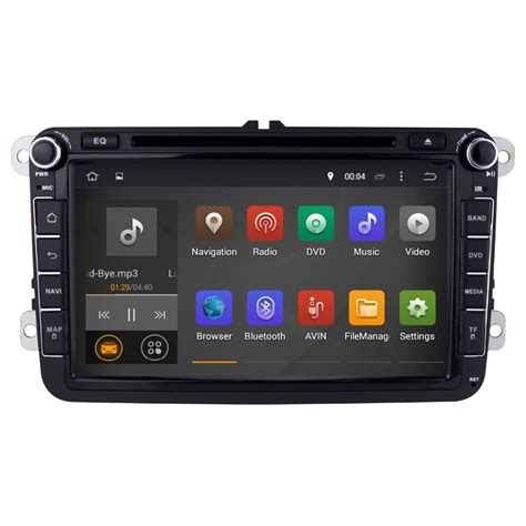 android din unit din android 4 4 car dvd player unit for volkswagen 8 inch 1024 600 screen