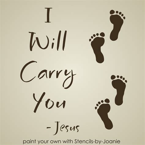 Primitive Decorations For The Home inspirational stencil jesus carry you footprint sand beach