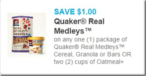 real printable grocery coupons new printable coupons and matchups for quaker steel cut