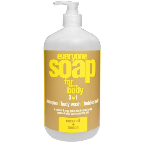 Us 3in1 Wash eo products everyone soap for every 3 in 1 coconut lemon 32 fl oz 946 ml iherb
