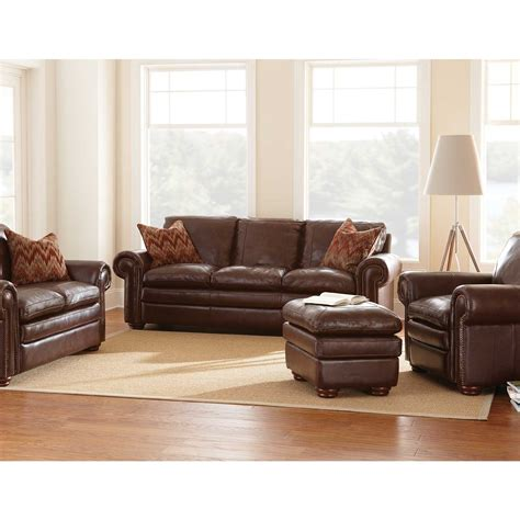 Top Grain Leather Sectional Sofa Carra Top Grain Leather Sofa Statement Furnishings Outlet