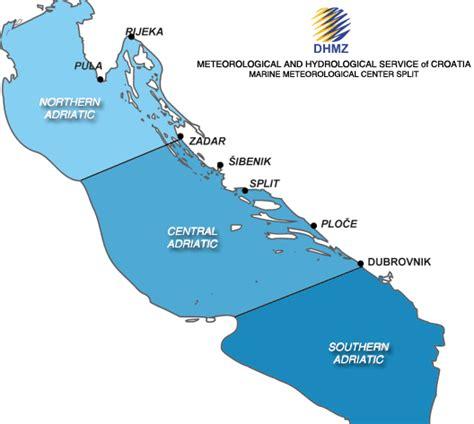adriatic sea map dhmz