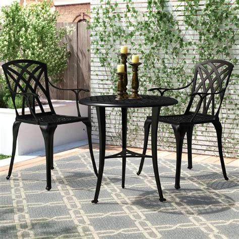bistro set patio nuu garden 3 aluminum outdoor patio bistro set