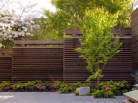 landscape layout horizontal staggered horizontal fence perfect for privacy on