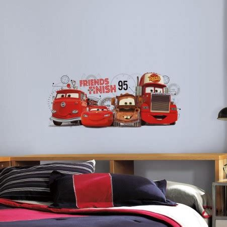 cars 2 friends finish giant wall decal roommates