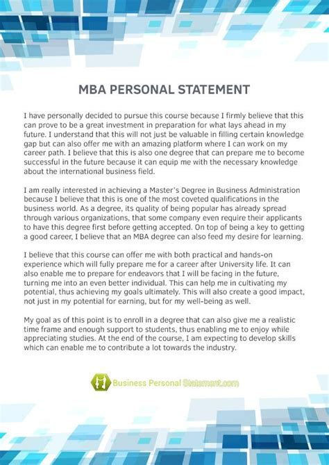 For Software Engineers With Mba by Http Www Businesspersonalstatement Personal