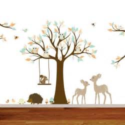 Nursery Animal Wall Decals Vinyls Woodland Animals And Deer On