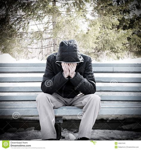 man on the bench sad man on the bench stock image image of lonely lost