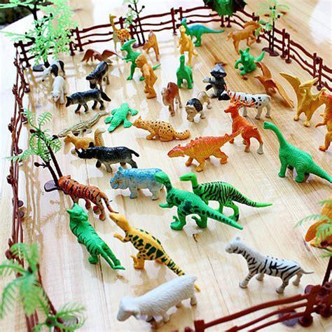 Gigo Animals Mini Educational Toys 3 68pcs set simulation zoo plastic mini animal model toys for children dinosaurs tiger diy