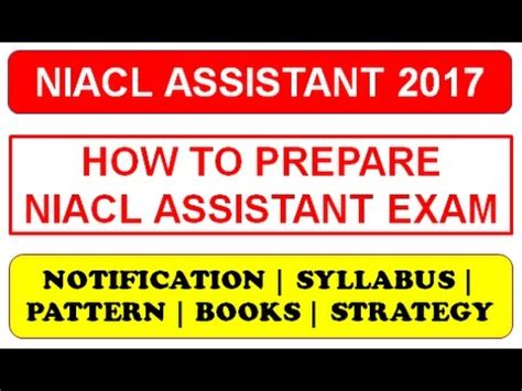 paper pattern niacl niacl assistant recruitment 2017 notification syllabus