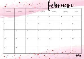 Kalender Februari 2018 Free Printable Kalender Voor 2017 Hip Blogazine