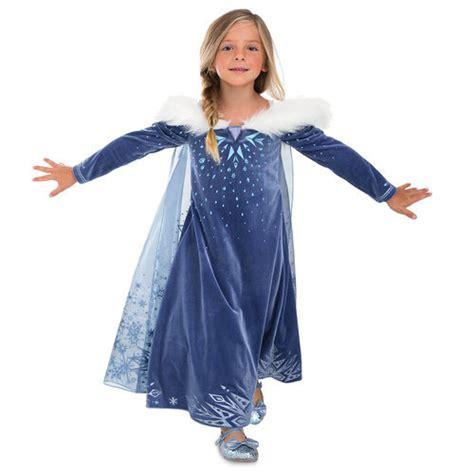 Bt1281 Gamis Frozen Blue elsa deluxe costume for olaf s frozen adventure