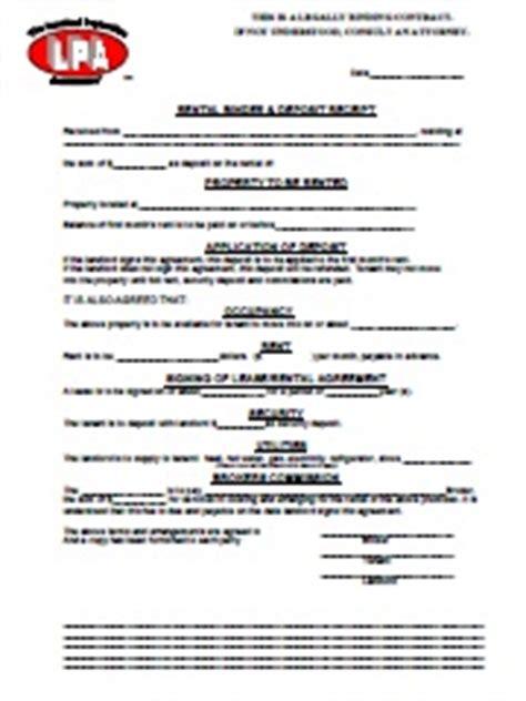 Rental Binder Agreement Binder Agreement Template