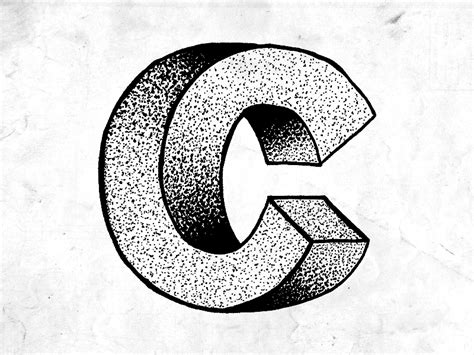 Illustrated Typography 16 Escher C By Rob Hson