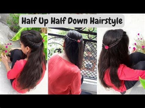 easy half up half down hairstyles youtube easy half up half down hairstyle style your locks youtube