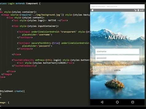 react native tutorial youtube react native tutorial making a login app with profile
