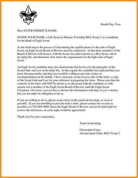 Cover Letter For Letter Of Recommendation by 13 Willing Letter For Scout Agenda Exle