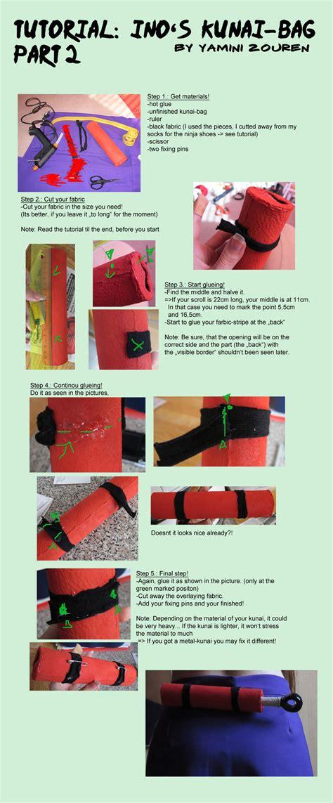 tutorial naruto shoes tutorial ino s kunaibag part2 by yaminizouren photos on