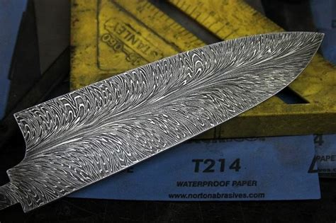 hhh feather damascus chef knife blade damascus steel chef knife damascus chef knives