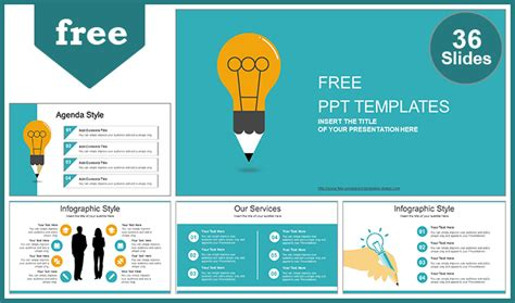 Creative Idea Bulb Powerpoint Template Creative Powerpoint Templates Free