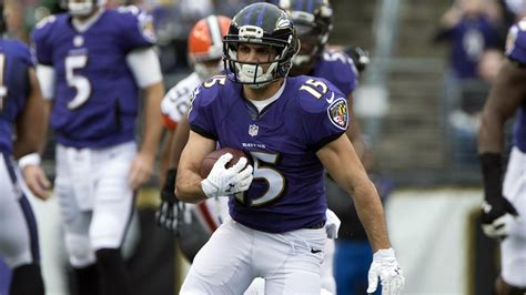 how to be a better wide receiver ravens michael canaro looks to contribute more after