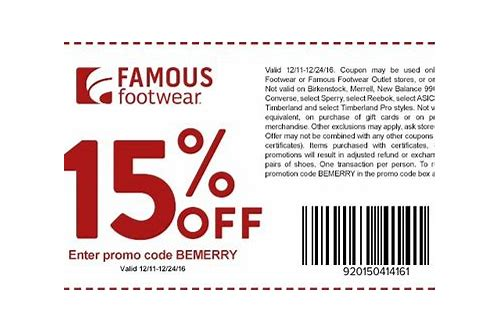 famous footwear coupons 2018 printable