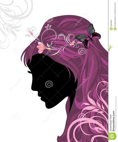 hairstyle banner design female hairstyle decorative banner for design stock photo