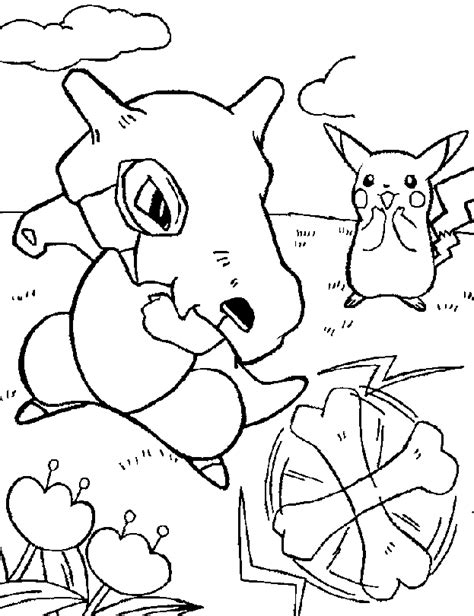 pokemon coloring pages of cubone cubone pokemon colouring pages coloring home