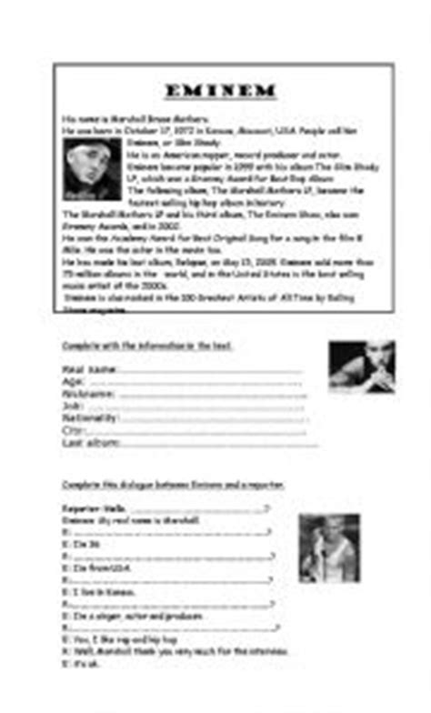 biography reading exercise search results for reading comprehension worksheets about