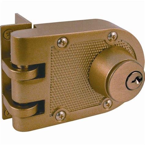 Prime Line Double Cylinder Painted Brass Jimmy Resistant Front Door Deadlocks