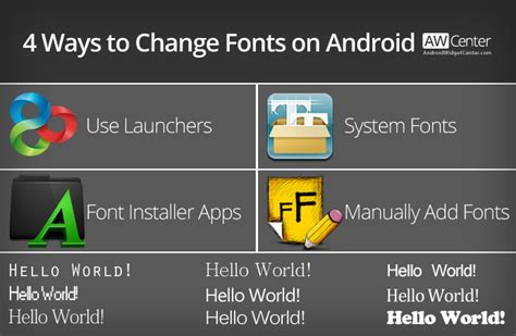 how to change font on android change fonts on android without rooting requires root aw center