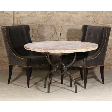Logan Dining Table Logan Iron Dining Table With 48 Quot Marble Top