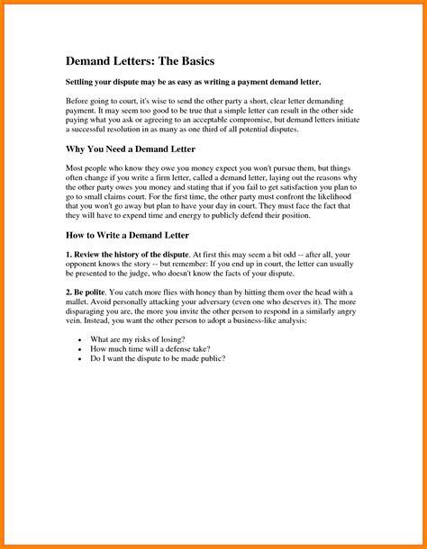 sle verification letter for tenant demand verification letter sle demand letter for