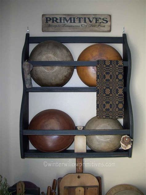 Bowl Rack bowl rack prim decor bowls