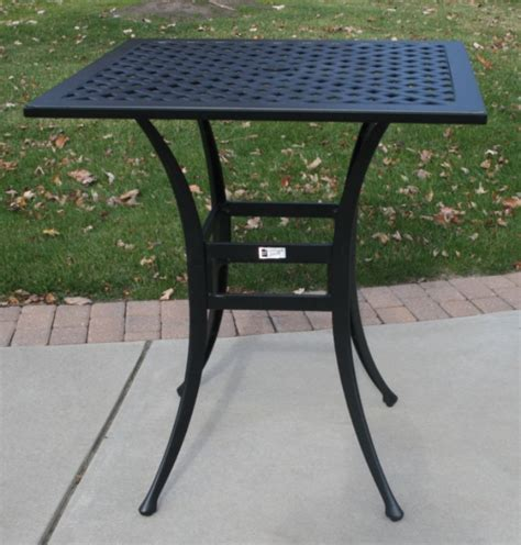 Patio Furniture Bar Height Table by Ansley Luxury 2 Person All Welded Cast Aluminum Patio