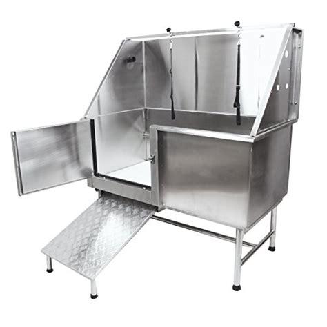 walk in grooming flying pig 50 quot stainless steel pet grooming bath tub with walk in r