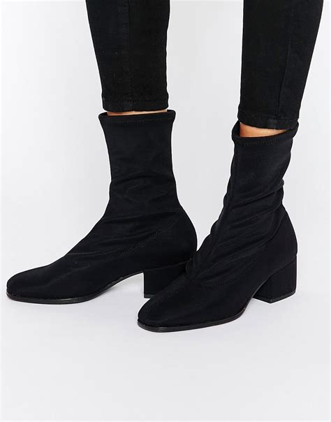 sock boots high vagabond vagabond black high cut sock boots at asos