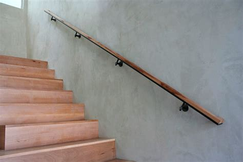 wooden stair banister modern handrails adding contemporary style to your home s staircase