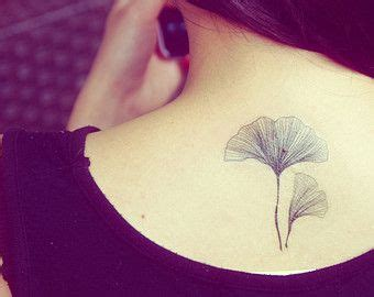 ginkgo leaf tattoo feuilles de gingko temporaire tatoo ensemble de 2
