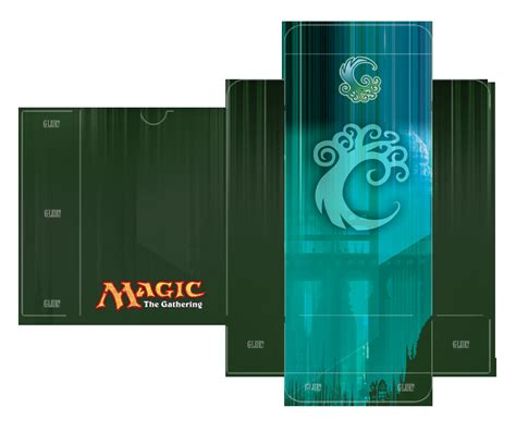 Magic Card Deck Box Template by Simic Guild Deckbox Template By Lumberjacksquid On Deviantart
