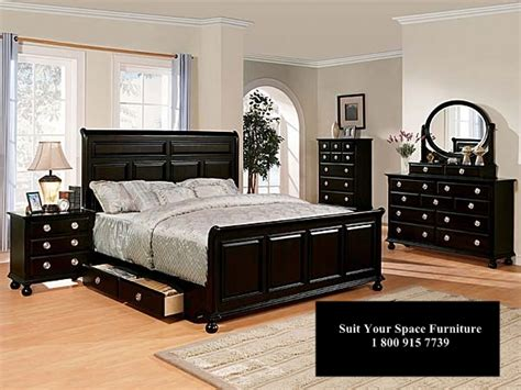 Black Bedroom Furniture Sets Queen Picture Andromedo Bedroom Furniture In Black