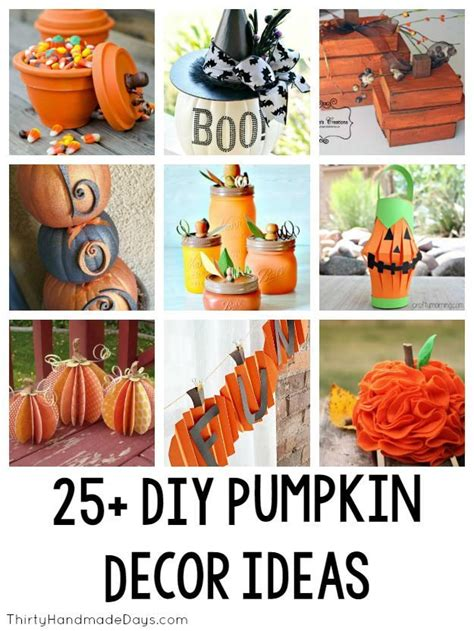 25 diy pumpkin decor ideas