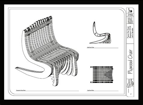 layout autocad maßstab plywood chair by kelly wagnon at coroflot com