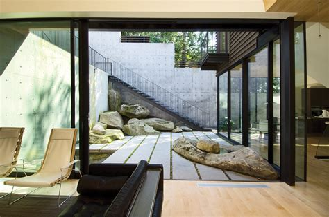 courtyard house showcase courtyard house on a steep site features
